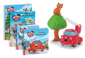 Fanpaket bestehend aus Spielset Fiona rettet die Katze und einem Bücherpaket*