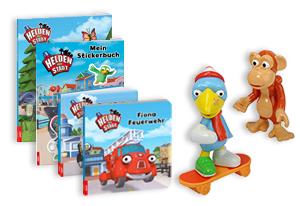 Fanpaket bestehend aus Figurenset Kasimir Krähe und einem Bücherpaket*