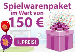 Spielwarenpaket im Wert von 150€