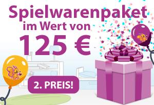 Spielwarenpaket im Wert von 125€